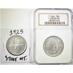 1946 BTW HALF DOLLAR NGC MS-65 & 1925
