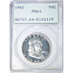 1962 FRANKLIN HALF DOLLAR  PCGS PR-64