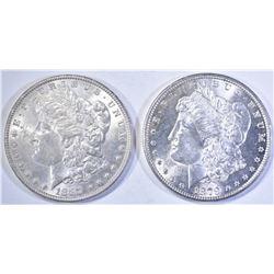 1879-S & 87 MORGAN DOLLARS CH BU