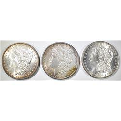 1882, 96 & 97 CH BU MORGAN DOLLARS