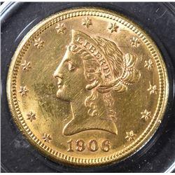 1906 $10 GOLD LIBERTY BU DAMAGE