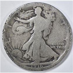 1916 WALKING LIBERTY HALF DOLLAR GOOD