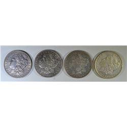 1884-O, 85-O & 2-1904 CIRC MORGAN DOLLARS