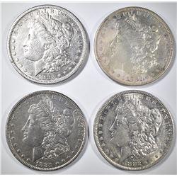 4-AU+ MORGAN DOLLARS: