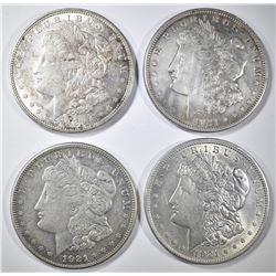 2-1921, 21-D & 21-S MORGAN DOLLARS