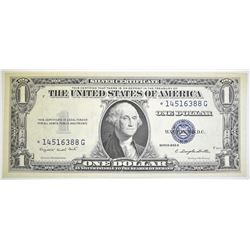 1935 G $1 SILVER CERTIFICATE  STAR NOTE