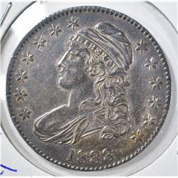 1833 CAP BUST HALF DOLLAR  CH AU