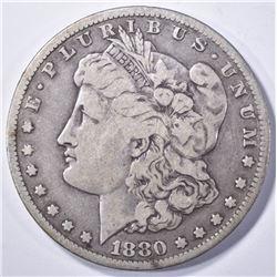 1880-CC MORGAN DOLLAR VF