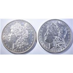 1897 & 1881-O MORGAN DOLLARS  BU