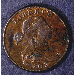 1802 DRAPED BUST LARGE CENT XF