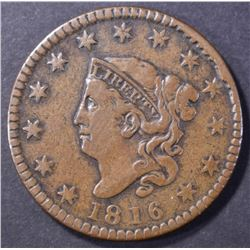1816 LARGE CENT, XF a few marks reverse