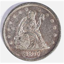 1875-S TWENTY CENT PIECE, AU