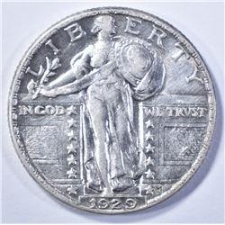 1929 STANDING LIBERTY QUARTER, AU/BU