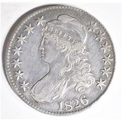 1826 BUST HALF DOLLAR, XF/AU