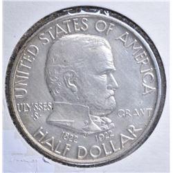 1922 GRANT MEMORIAL HALF DOLLAR AU/BU