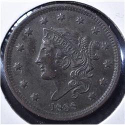 1838 LARGE CENT, AU