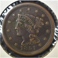 1851 LARGE CENT, AU