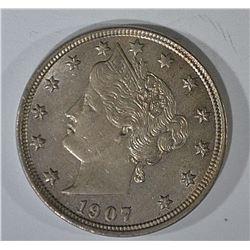 1907 LIBERTY NICKEL BU