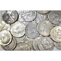 10-FRANKLIN & 10-1964 KENNEDY HALF DOLLARS