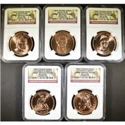 NGC GRADED FIRST SPOUSE COIN LOT: