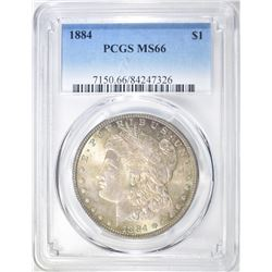 1884 MORGAN DOLLAR  PCGS MS-66