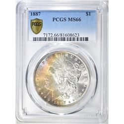 1887 MORGAN DOLLAR  PCGS MS-66