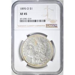 1895-O MORGAN DOLLAR  NGC XF-45
