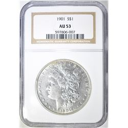 1901 MORGAN DOLLAR NGC AU-53