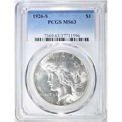 1926-S PEACE DOLLAR PCGS MS-63