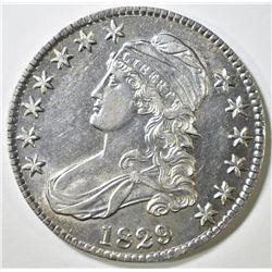 1829 BUST HALF AU/BU