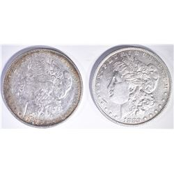 1878 7TF MORGAN DOLLAR F AU & 1880-O