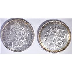 1879 & 1880 MORGAN DOLLAR CH BU