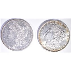 (2) MORGANS: 1879-O CRAZY COLORS