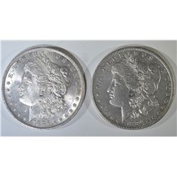 1884-O & 85-O BU MORGAN DOLLARS