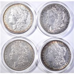 4 AU/BU MORGAN DOLLARS