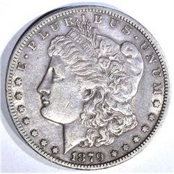 1879-CC MORGAN DOLLAR, AU SCARCE DATE