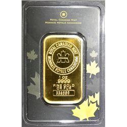 1-OUNCE .9999 GOLD BAR, ROYAL CANADIAN MINT