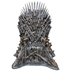 "Game of Thrones HBO studio-commissioned life-size replica ""Iron Throne""."