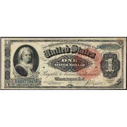1886 $1 Martha Washington Silver Certificate Note