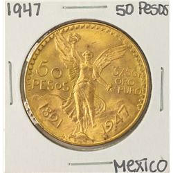 1947 Mexico 50 Pesos Gold Coin