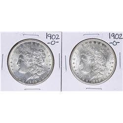Lot of (2) 1902-O $1 Morgan Silver Dollar Coins