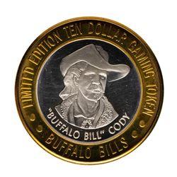 .999 Fine Silver Buffalo Bill's Jean, Nevada $10 Limited Edition Gaming Token