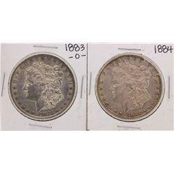 Lot of 1883-O & 1884 $1 Morgan Silver Dollar Coins