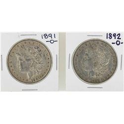 Lot of 1891-O & 1892-O $1 Morgan Silver Dollar Coins