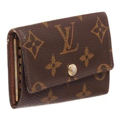 Louis Vuitton Monogram Canvas Leather 6 Key Holder