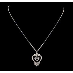 0.64 ctw Diamond Necklace - 14KT White Gold