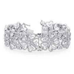 18k White Gold 10.66CTW Diamond Bracelet, (VS/F-G)