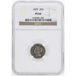 1879 Three Cent Nickel Proof Coin NGC PF64