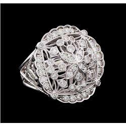 2.04 ctw Diamond Ring - 14KT White Gold