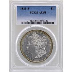 1883-S $1 Morgan Silver Dollar Coin PCGS AU55